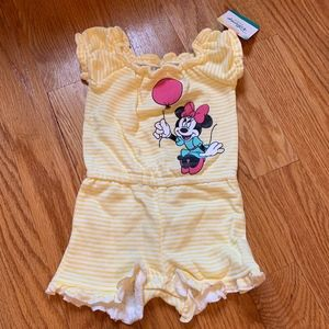 Minnie Mouse Yellow Stripe Romper